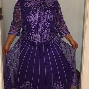 Susanna Purple Two Piece